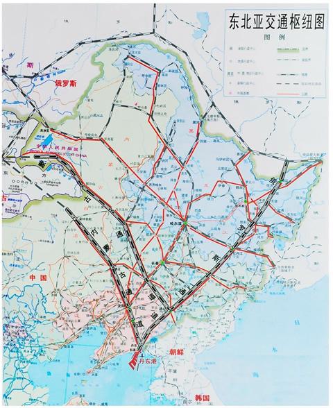 东合地图-东北东部区域合作网图片